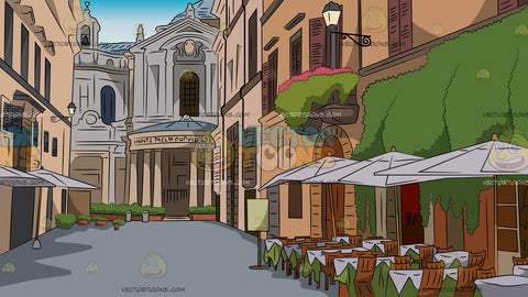 Italian Piazza Background