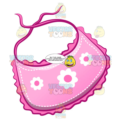 A Cute Baby Bib With Floral Print