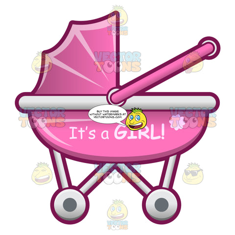 A Baby Trolley Celebrating The Birth Of A Baby Girl