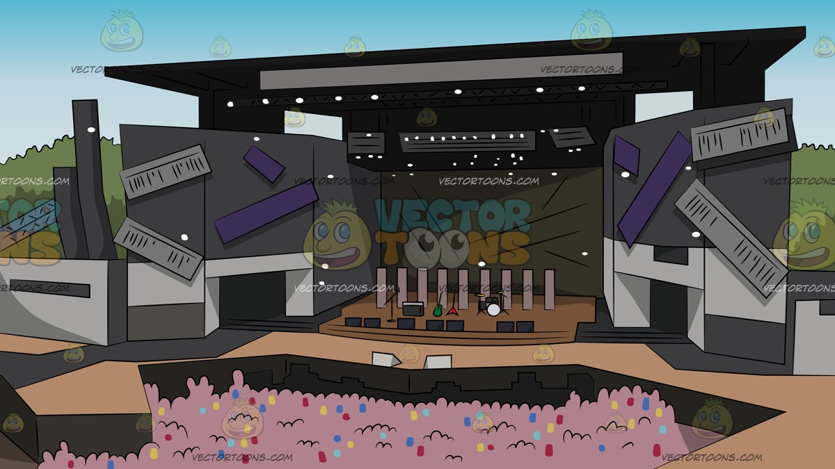 Jam Packed Outdoor Concert Background