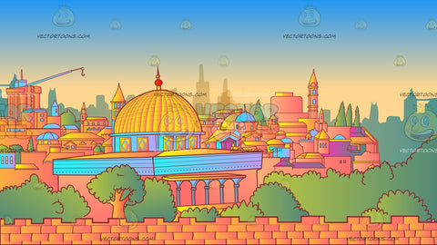 Jerusalem Skyline Background