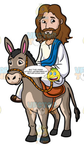 Jesus Riding A Donkey