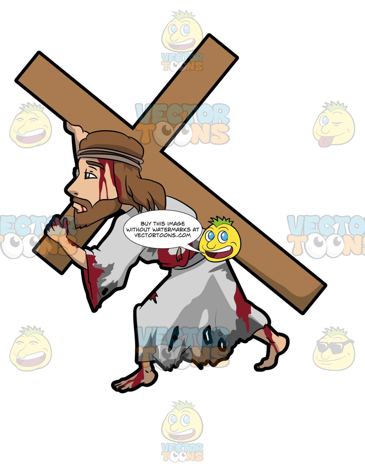 Jesus Carrying A Heavy Cross