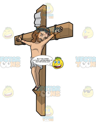 Jesus In Pain On The Cross