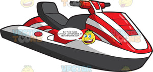 A Classic Red And White Jet Ski