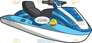 A Classic Two Tone Blue And White Jet Ski