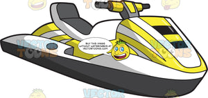A Traditional Yellow And Black Jet Ski