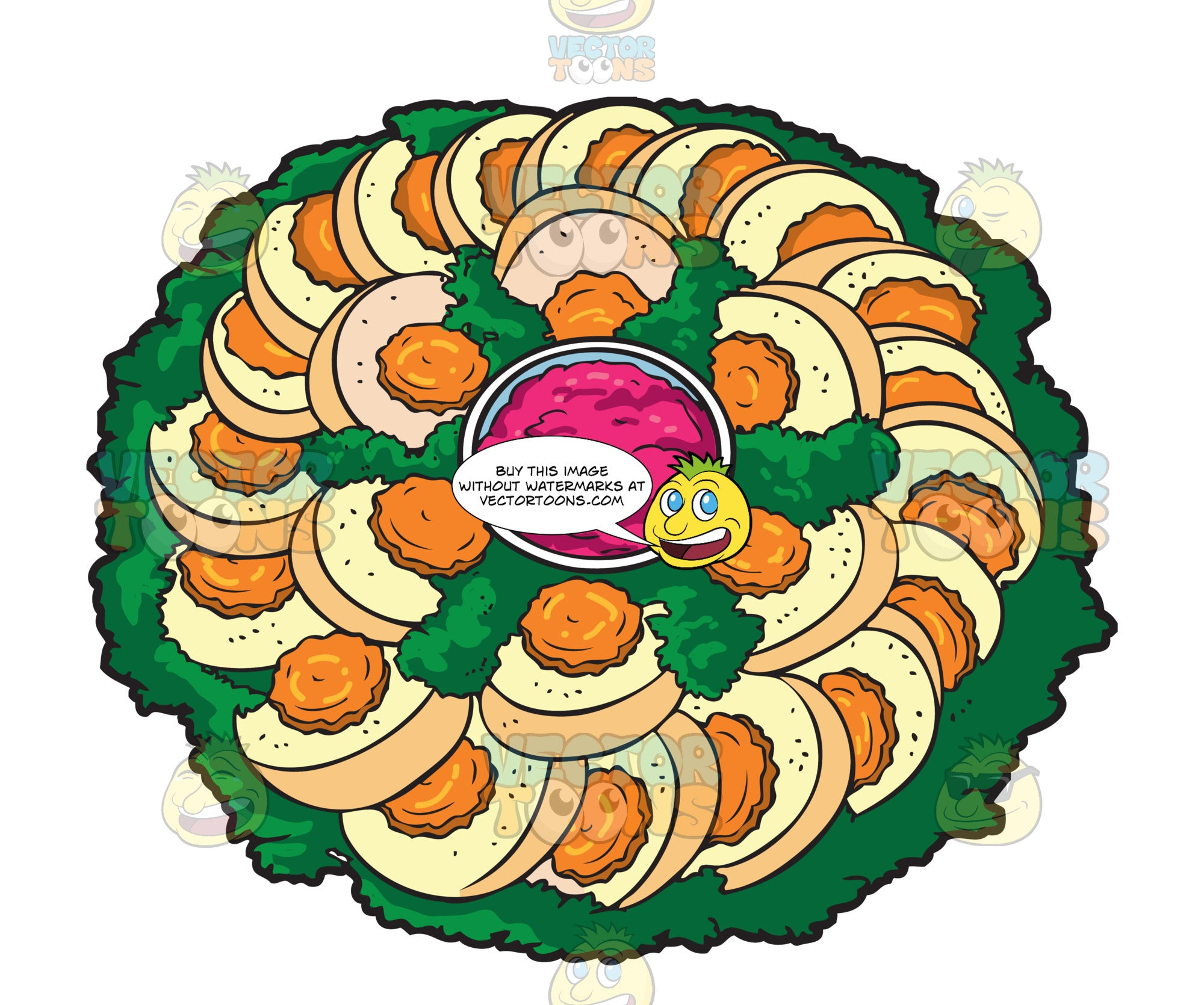 A platter of gefilte fish