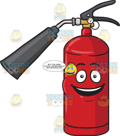 Joyful Fire Extinguisher Smiling In Delight Emoji