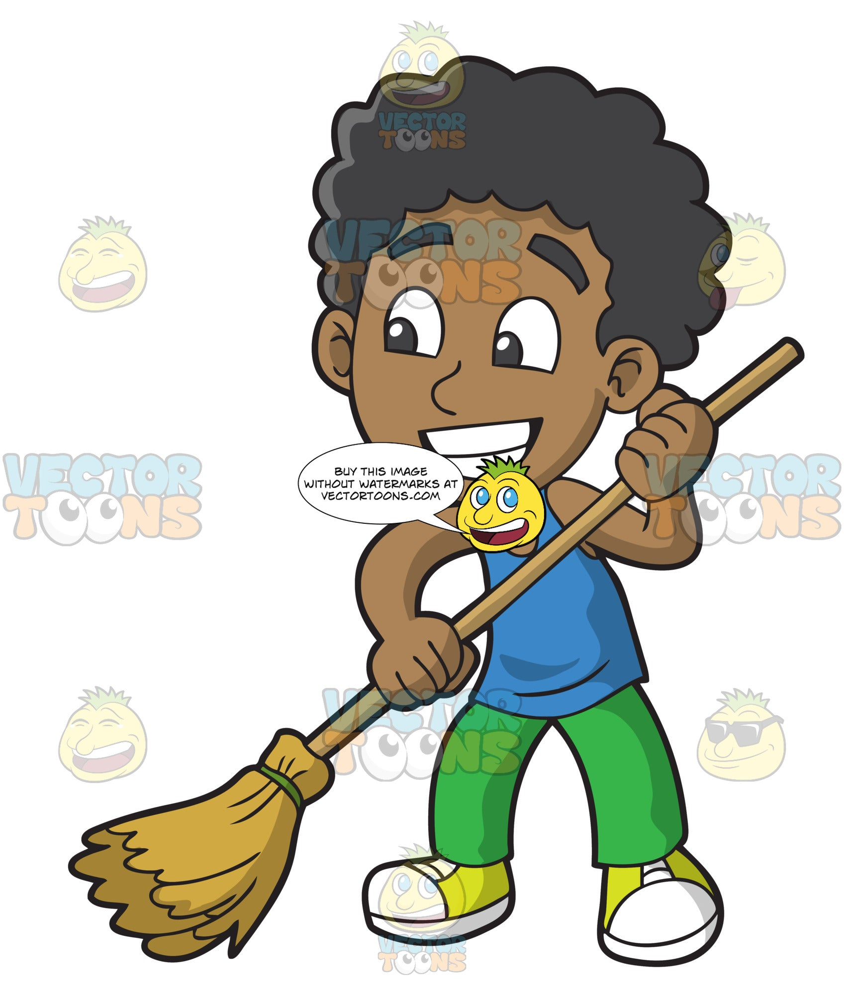 a black boy sweeping the floor clipart cartoons by vectortoons a black boy sweeping the floor clipart cartoons by vectortoons