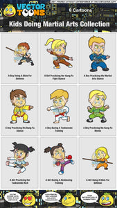 Kids Doing Martial Arts Collection