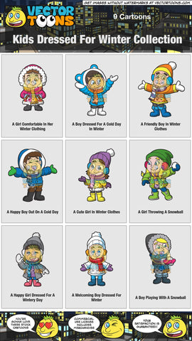 Kids Dressed For Winter Collection