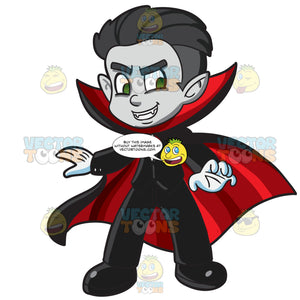 A Boy In Vampire Costume