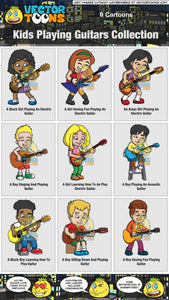 Kids Playing Guitars Collection
