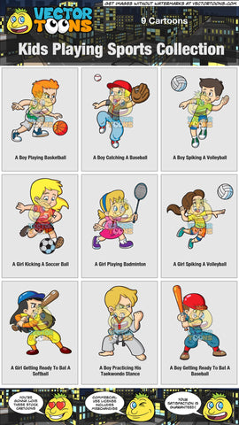 Kids Playing Sports Collection