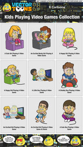 Kids Playing Video Games Collection