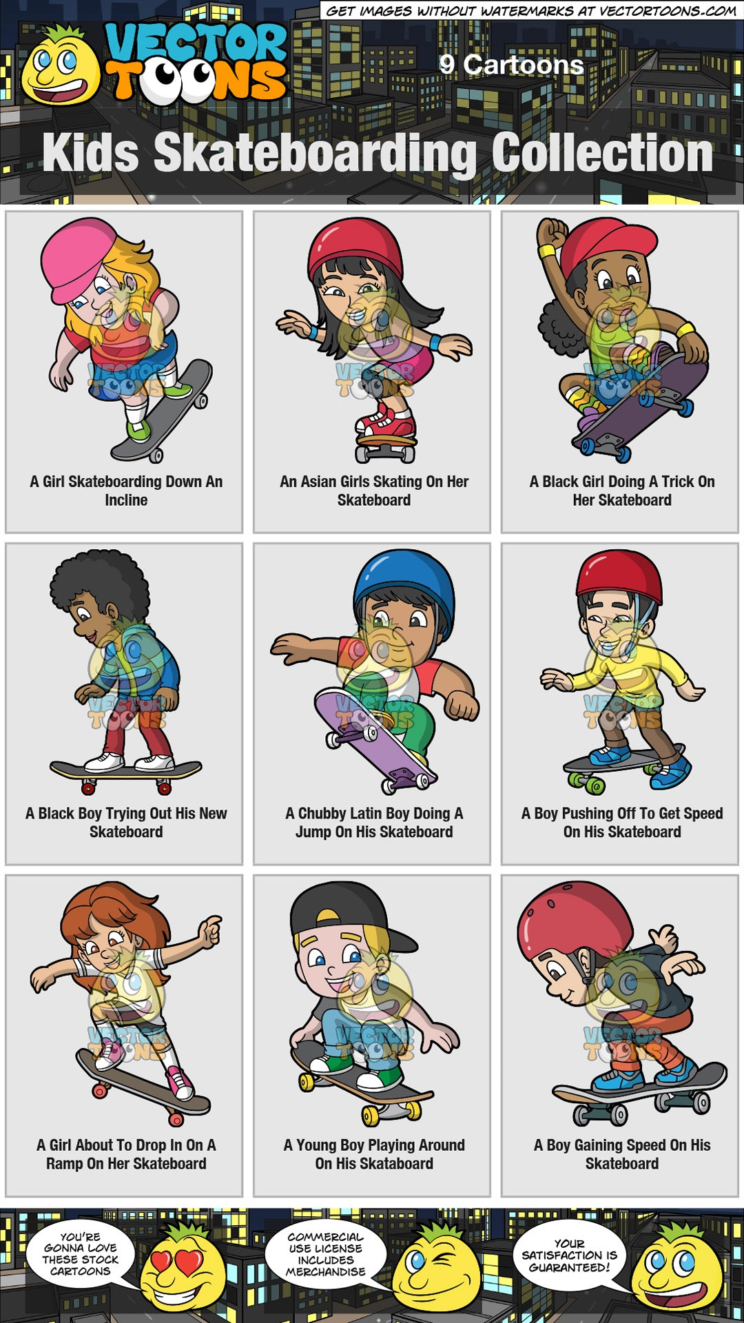 Kids Skateboarding Collection
