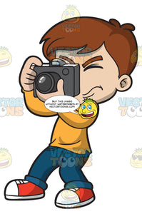 A Boy Snapping Photos