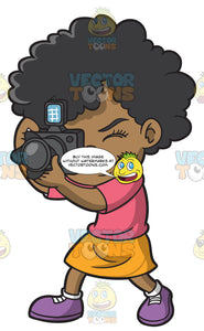 A Black Girl Taking Photos