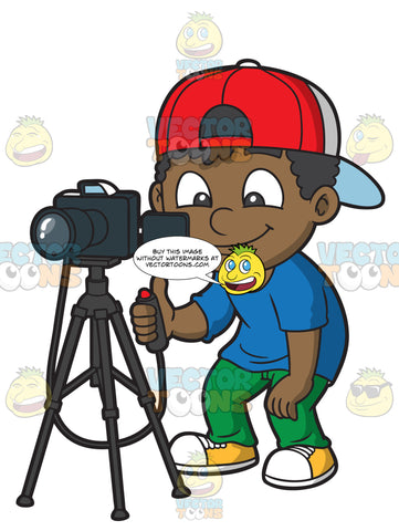 A Black Boy Taking Photos