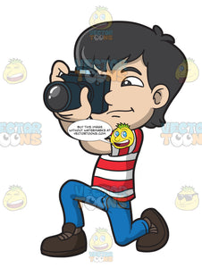 An Asian Boy Snapping Some Pictures