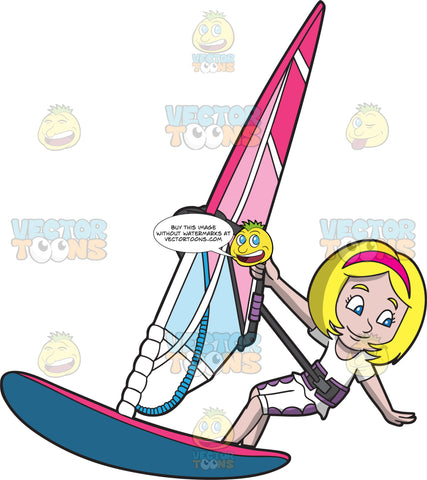 A Girl Windsurfer
