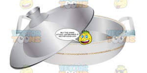 Stainless Steel Sauce Pan With Lid And Handles Attached