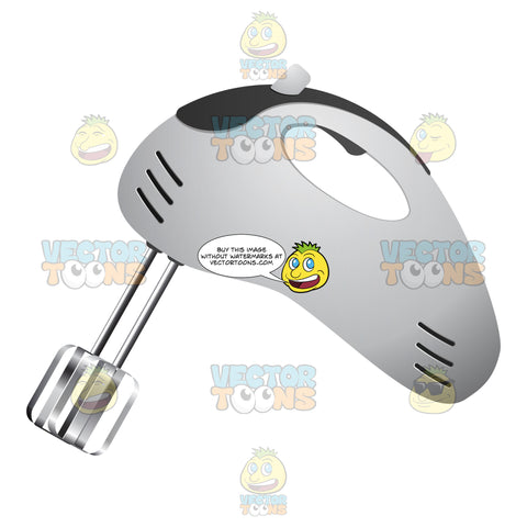 White Hand Mixer With Black Accent Color