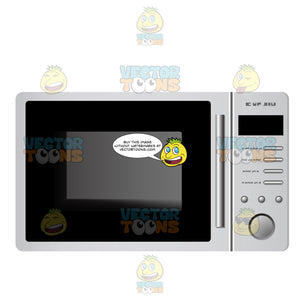 Microwave Oven With Minimal Buttons