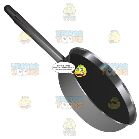 Silver Pan With Black Nonstick Coating Inside