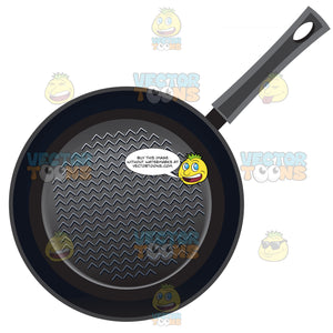 Black Cooking Pan With Non Stick Lines Inside