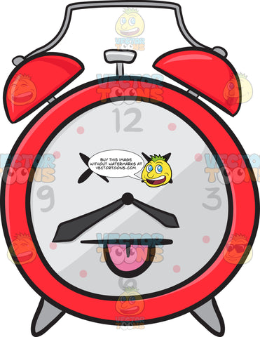 Knocked Out Alarm Clock Emoji