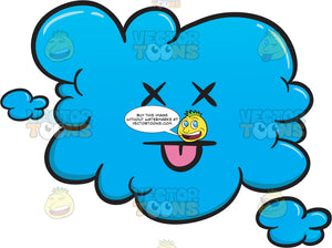 Knocked Out Cloud Emoji