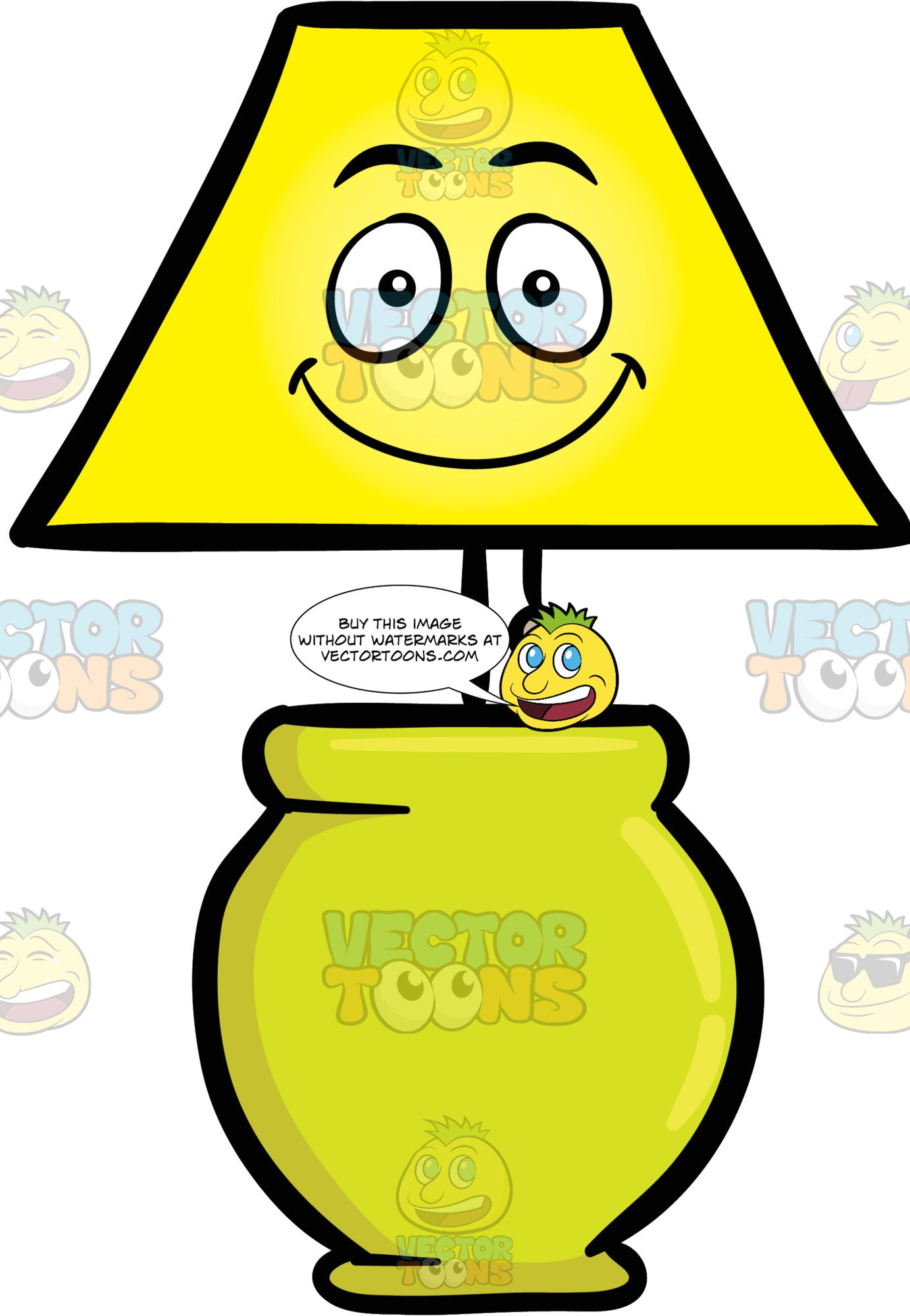 Smiling Table Lamp Fixture