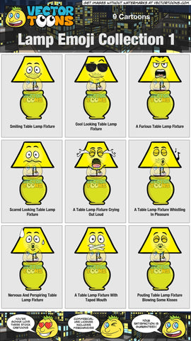 Lamp Emoji Collection 1