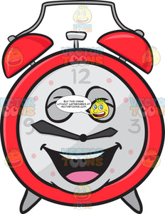 Laughing Alarm Clock Emoji