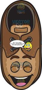 Laughing Brown Shoe Emoji