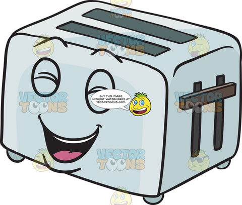 Laughing Pop Up Toaster Emoji