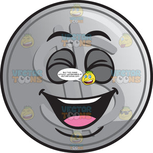 Laughing Silver Coin Emoji