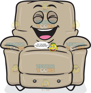 Laughing Stuffed Chair Emoji