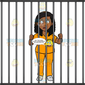 A Black Woman Behind Bars