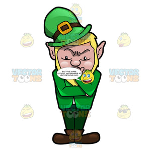 A Leprechaun Deliberating A Thought