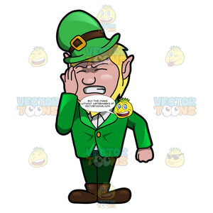 A Leprechaun Slapping Himself In Regret