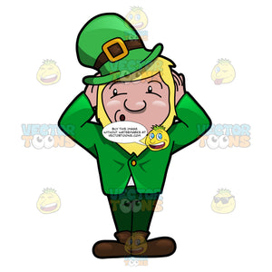 A Leprechaun Refusing To Hear Anything