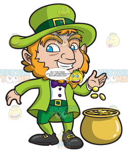 A Leprechaun With His Pot Of Gold