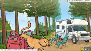 Let The Cat Out Of The Bag and An Rv Parked By The River Background