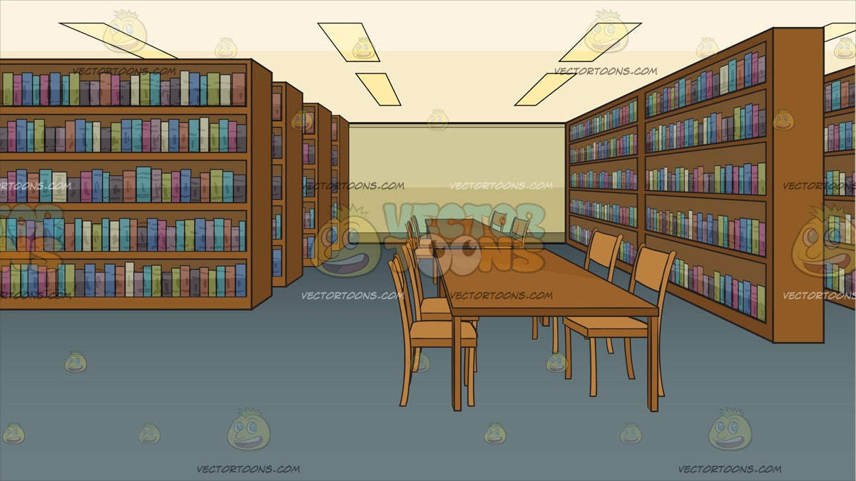 Library Study Area Background Clipart Cartoons By