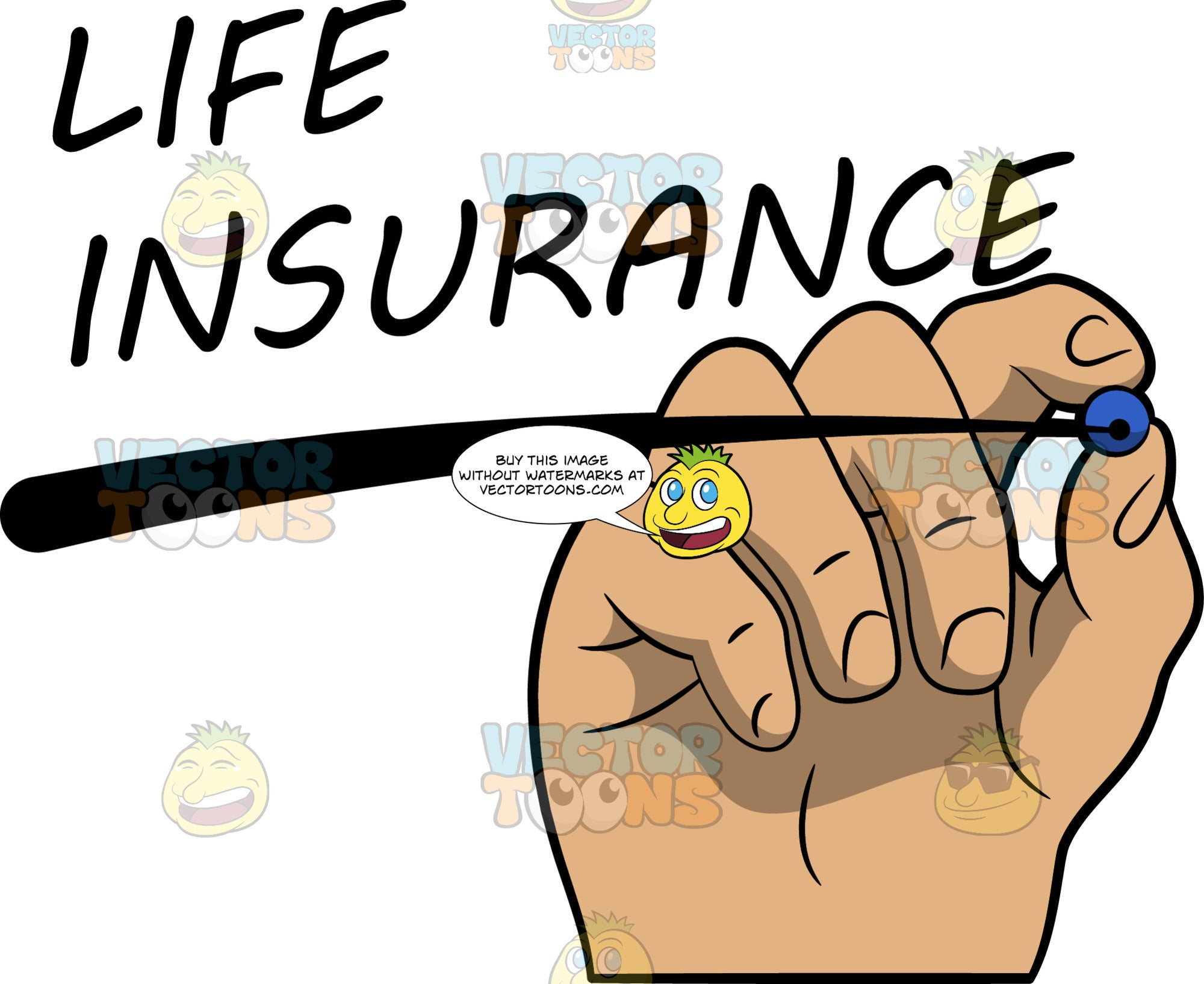 A Hand Underlining The Word Life Insurance