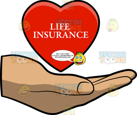 A Hand Carrying A Life Insurance Heart