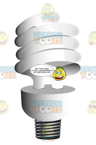 Spiral, Twist Compact Fluorescent Light Bulb